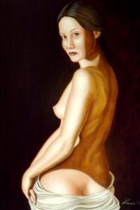 La fata – The fairy - olio su tavola 70x50