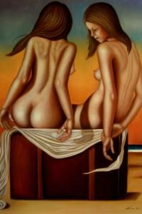 La valigia dei sogni – The suitcase of the dreams olio su tela 80x120