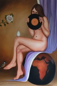 I dubbi dell'amore - olio su tela 100x70