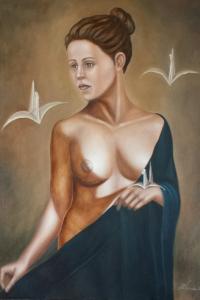 La regina delle false illusioni olio su tela 80x60