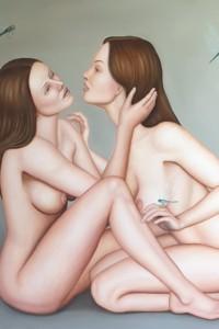 Il bacio di Giuda - olio su tela 100x100